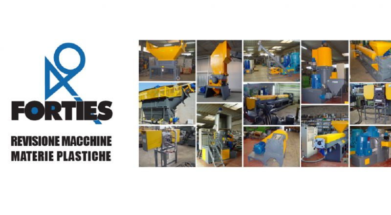Offerta servizio revisione vendita macchinari usati per il riciclaggio materie plastiche italy