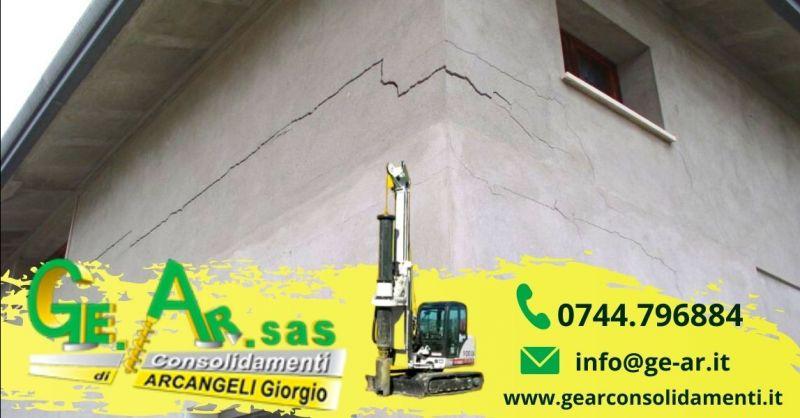 Offerta consolidamento murature con tiranti iniezioni Terni - Occasione consolidamento crepe nei muri
