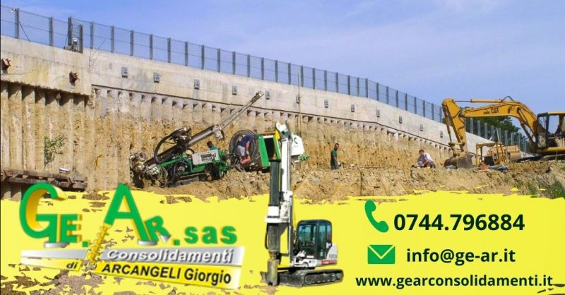 GE.AR. SAS - Occasione realizzazione paratie di pali Terni - Offerta azienda per sondaggi geognostici Terni