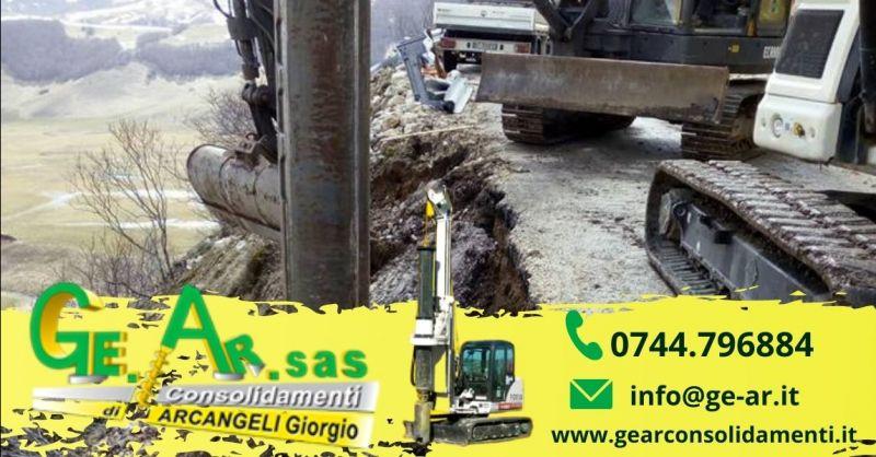 Offerta consolidamento terreni in frana Terni - Occasione consolidamento pareti di roccia Terni