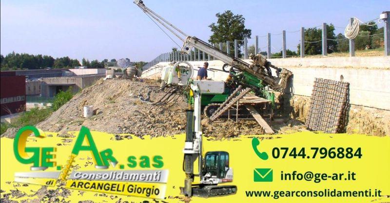 Occasione consolidamento murature con iniezioni Terni - Offerta installazione tiranti per murature Terni