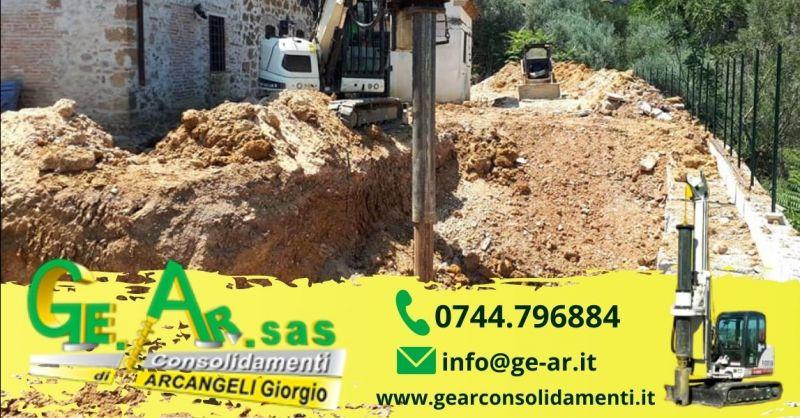 Occasione consolidamento pareti rocciose Terni - Promozione realizzazione palificazione di terreni Umbria