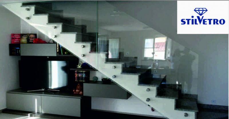 Vetreria Stilvetro offerta scale in vetro - occasione parapetti Arezzo