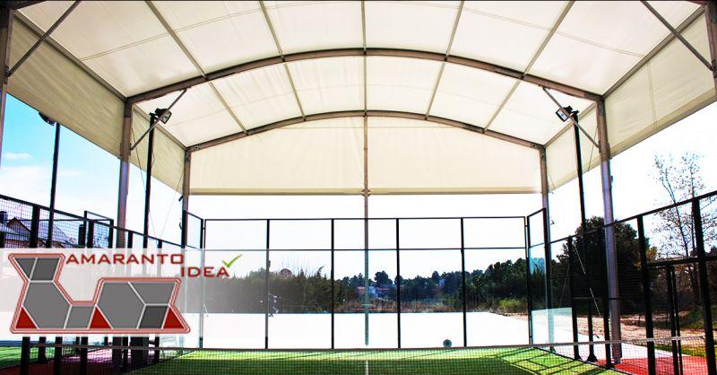 Offerta copertura mobile per campo da paddle - Occasione copertura campi da paddle